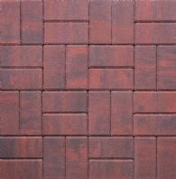 200x100x50mm THICK RECTANGULAR BLOCK PAVING, BRINDLE
